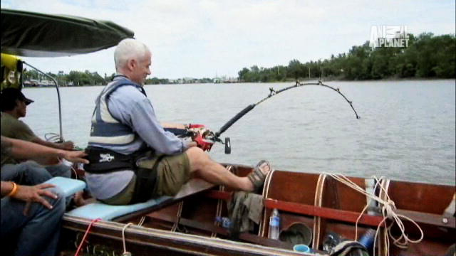 Jeremy wade answers fans 4 river monsters animal planet for Wade fishing gear