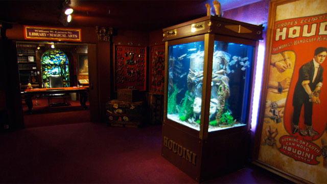 Reveal neil patrick harris houdini tank tanked for Atm fish tank
