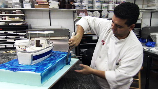 Making The Boat Cake Cake Boss Tlc