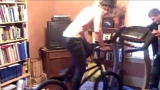 Outrageous Acts of Science: BMX Bike on a Treadmill